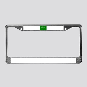 Part foreigner, mostly Irish! License Plate Frame