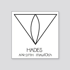 "Hades Asterian astrology Square Sticker 3"" x 3"""