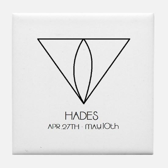 Hades Asterian astrology Tile Coaster