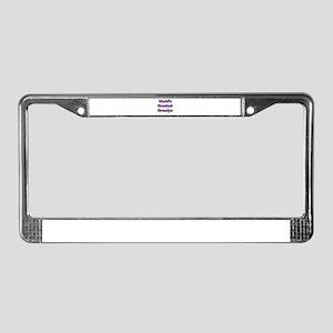 Worlds Greatest Grandpa License Plate Frame