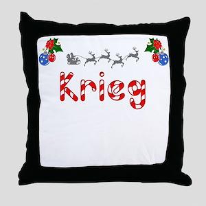 Krieg, Christmas Throw Pillow