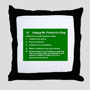 What to do on St. Patricks Day Throw Pillow