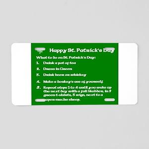 What to do on St. Patricks Day Aluminum License Pl