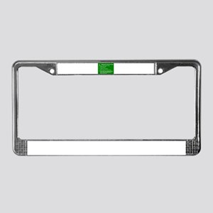 What to do on St. Patricks Day License Plate Frame