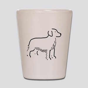 Golden Retriever Sketch Shot Glass