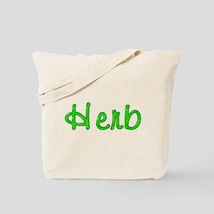 Herb Glitter Gel Tote Bag