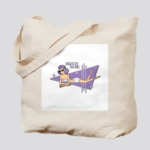 Lavender Retro Beach Babe Tote Bag