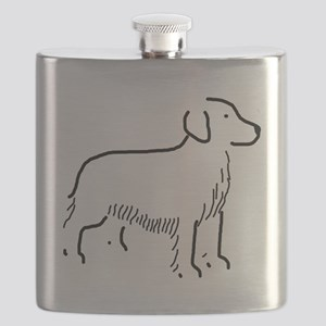 Golden Retriever Sketch Flask