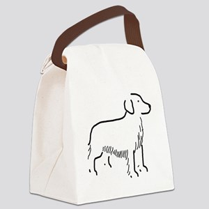 Golden Retriever Sketch Canvas Lunch Bag
