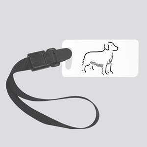 Golden Retriever Sketch Small Luggage Tag