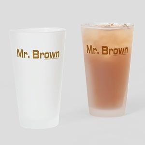 Reservoir Dogs Mr. Brown Drinking Glass