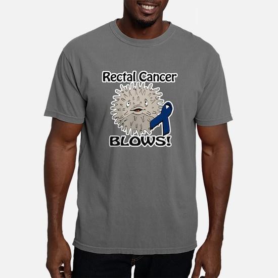 Rectal Cancer Blows Awar Mens Comfort Colors Shirt