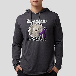 Sarcoidosis Blows Awareness Desi Mens Hooded Shirt