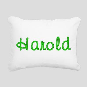 Harold Glitter Gel Rectangular Canvas Pillow