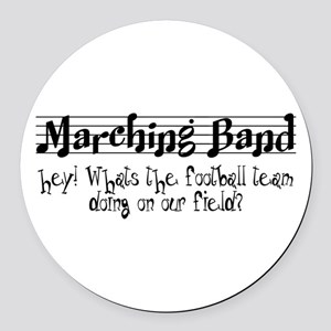 Marching Band Round Car Magnet