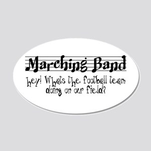 Marching Band 20x12 Oval Wall Decal