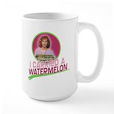 I Carried a Watermelon Large Mug