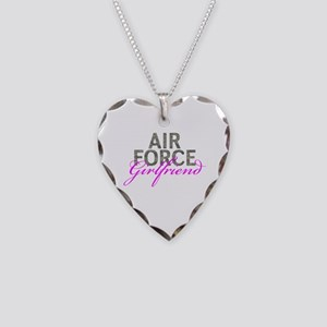 Air Force Girlfriend Necklace Heart Charm