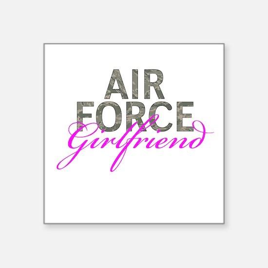 "Air Force Girlfriend Square Sticker 3"" x 3"""