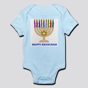 Hannukah Menorah Infant Bodysuit
