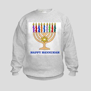 Hannukah Menorah Kids Sweatshirt