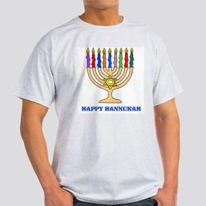 Hannukah Menorah Ash Grey T-Shirt