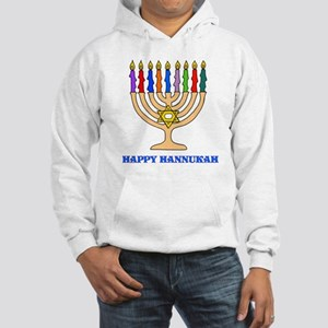 Hannukah Menorah Hooded Sweatshirt