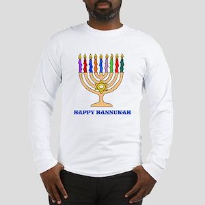 Hannukah Menorah Long Sleeve T-Shirt