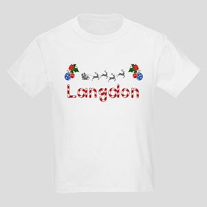 Langdon, Christmas Kids Light T-Shirt