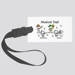 Musical Dad Large Luggage Tag