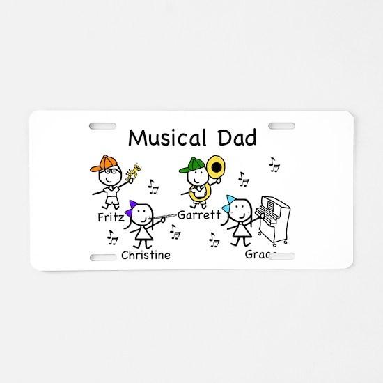 Musical Dad Aluminum License Plate