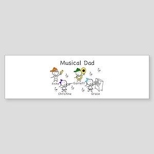 Musical Dad Sticker (Bumper)