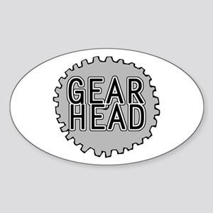 'Gear Head' Sticker (Oval)