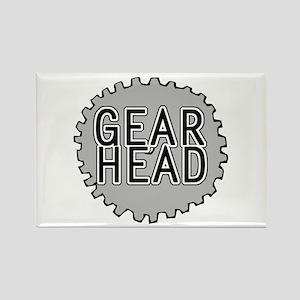'Gear Head' Rectangle Magnet
