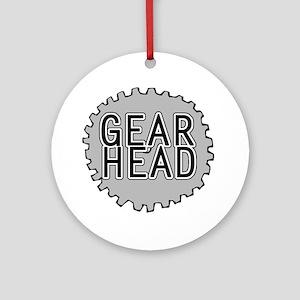 'Gear Head' Ornament (Round)