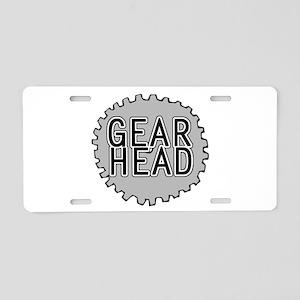 'Gear Head' Aluminum License Plate