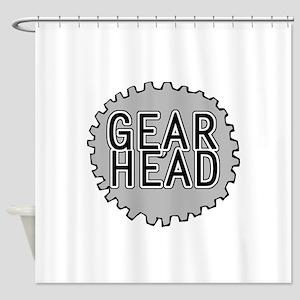 'Gear Head' Shower Curtain