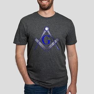 250 mm Grey-Blue-SC Mens Tri-blend T-Shirt