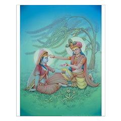 Krishna & Radha Changing Chlothes