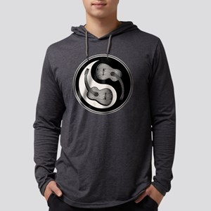 guitar-yang-2-bw-T Mens Hooded Shirt