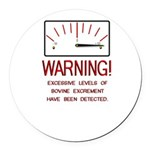 Bovine Excrement Detected Round Car Magnet