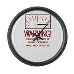 Bovine Excrement Detected Large Wall Clock