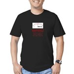 Bovine Excrement Detected Men's Fitted T-Shirt (da