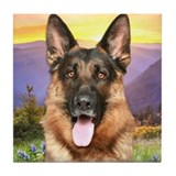 German shepherd dog Tile Coasters