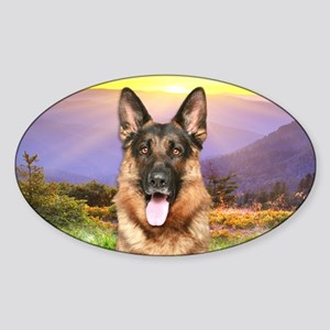 Shepherd Meadow Sticker (Oval)