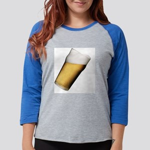 Copy of beer Glass Womens Baseball Tee