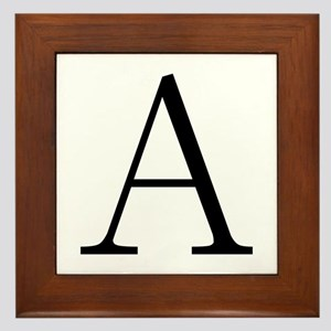 Greek Letter Alpha Framed Tile