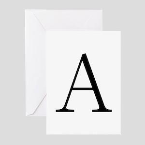 Greek Letter Alpha Greeting Cards (Pk of 10)
