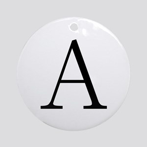 Greek Letter Alpha Ornament (Round)