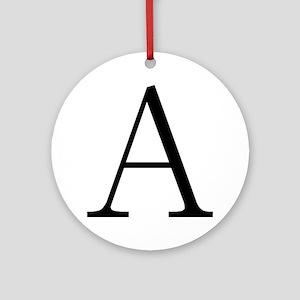 Greek Letter Alpha Ornament (Round)